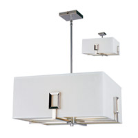 Z-Lite Quadrate 3 Light Pendant in Polished Stainless Steel 1202-20C