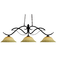 Phoenix 3 Light 54 inch Bronze Billiard Ceiling Light in 16, Golden Mottle