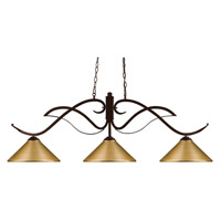 Phoenix 3 Light 52 inch Bronze Island Light Ceiling Light