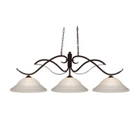 Phoenix 3 Light 55 inch Bronze Island Light Ceiling Light in 16, White Swirl