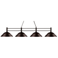 Z-Lite 127-4BRZ-SBRZ Challenger 4 Light 71 inch Bronze Island Light Ceiling Light in 13, Bronze Steel