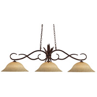 Chicago 3 Light 56 inch Bronze Island Light Ceiling Light in Golden Mottle, 16