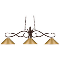 Chicago 3 Light 55 inch Bronze Island Light Ceiling Light