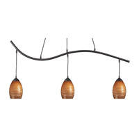 Jazz 3 Light 48 inch Sand Black Island Light Ceiling Light in Carmel