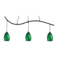 Jazz 3 Light 48 inch Sand Black Island Light Ceiling Light in Green
