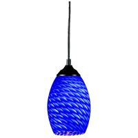 Z-Lite Jazz 1 Light Mini Pendant in Sand Black 131-BLUE