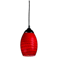 Jazz 1 Light 5 inch Sand Black Mini Pendant Ceiling Light in Red