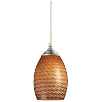 Z-Lite Jazz 1 Light Mini Pendant in Brushed Nickel 131C-BN