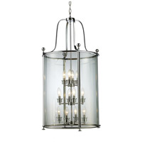 Z-Lite 134-12 Wyndham 12 Light 22 inch Chrome Pendant Ceiling Light
