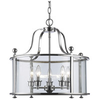 Z-Lite 134-5 Wyndham 5 Light 21 inch Chrome Pendant Ceiling Light