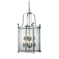 Z-Lite 134-8 Wyndham 8 Light 18 inch Chrome Pendant Ceiling Light