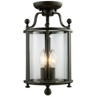 Z-Lite Wyndham 3 Light Semi-Flush Mount in Bronze 135SF
