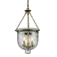 Z-Lite Tudor 3 Light Pendant in Antique Brass 136-22 photo thumbnail