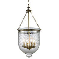 Z-Lite Tudor 4 Light Pendant in Antique Brass 136-28