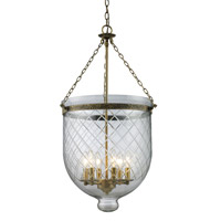 Z-Lite Tudor 6 Light Pendant in Antique Brass 136-34