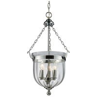 Z-Lite 137-25 Warwick 3 Light 12 inch Chrome Pendant Ceiling Light in 12.25 photo thumbnail