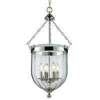 Z-Lite 137-28 Warwick 4 Light 14 inch Chrome Pendant Ceiling Light in 13.75 photo thumbnail