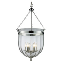 Z-Lite 137-34 Warwick 6 Light 18 inch Chrome Pendant Ceiling Light in 17.75