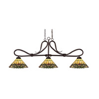 Z-Lite Cobra 3 Light Billiard/Island in Bronze 137BRZ-Z14-49