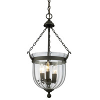 Z-Lite Warwick 3 Light Pendant in Bronze 140-25