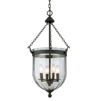 Z-Lite Warwick 4 Light Pendant in Bronze 140-28