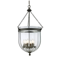 Z-Lite 140-34 Warwick 6 Light 18 inch Bronze Pendant Ceiling Light in 17.75