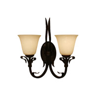 Z-Lite Fountaindale 2 Light Wall Sconce in Matte Coffee 14072W photo thumbnail