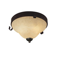 Z-Lite Fountaindale 3 Light Flush Mount in Matte Coffee 14073F