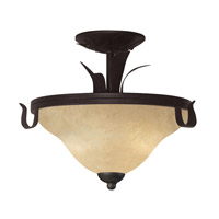 Z-Lite Fountaindale 3 Light Semi-Flush Mount in Matte Coffee 14073SF