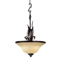 Z-Lite Fountaindale 3 Light Pendant in Matte Coffee 14074