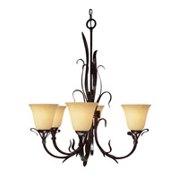 Z-Lite Fountaindale 5 Light Chandelier in Matte Coffee 14075U
