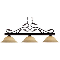 Z-Lite Bourbon 3 Light Billiard in Bronze 140BRZ-GM16