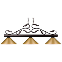Bourbon 3 Light 54 inch Bronze Island Light Ceiling Light