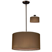 Z-Lite Nikko 3 Light Pendant in Olde Bronze/Taupe 144-18T