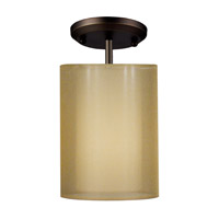 Z-Lite Nikko 1 Light Semi-Flush Mount in Olde Bronze/Gold 144-6GOB-SF photo thumbnail
