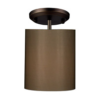 Z-Lite Nikko 1 Light Semi-Flush Mount in Olde Bronze/Taupe 144-6T-SF