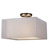 Z-Lite Nikko 3 Light Semi Flush Mount in Brushed Nickel and White 145-15W-SF photo thumbnail