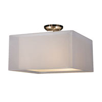 Z-Lite Nikko 3 Light Semi Flush Mount in Brushed Nickel and White 145-18W-SF photo thumbnail