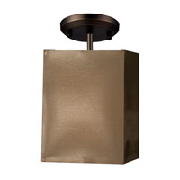 Z-Lite Nikko 1 Light Semi-Flush Mount in Olde Bronze/Taupe 145-6T-SF