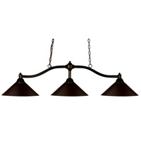 Chance 3 Light 50 inch Bronze Island Light Ceiling Light in Bronze Steel