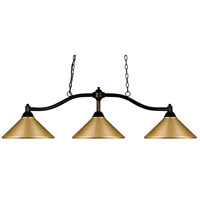 Z-Lite 147BRZ-MSG Chance 3 Light 50 inch Bronze Island/Billiard Ceiling Light