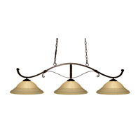 Z-Lite Howler 3 Light Billiard in Bronze 148BRZ-GSW16