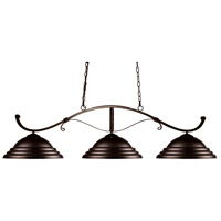 Howler 3 Light 52 inch Bronze Island Light Ceiling Light in Bronze Steel