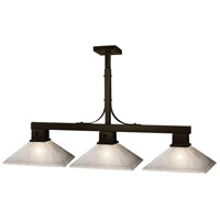 Flatwater 3 Light 48 inch Bronze Billiard Ceiling Light in Mission White Linen