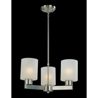 Z-Lite Cobalt 3 Light Chandelier in Brushed Nickel 152-3