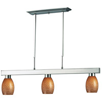 Z-Lite 152BN-131CARAMEL Players 3 Light 42 inch Brushed Nickel Island Light Ceiling Light in Carmel