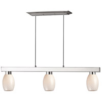 Z-Lite 152BN-131WHITE Cobalt 3 Light 42 inch Brushed Nickel Island/Billiard Ceiling Light in White
