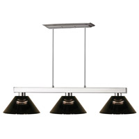 Players 3 Light 14 inch Brushed Nickel Island Light Ceiling Light