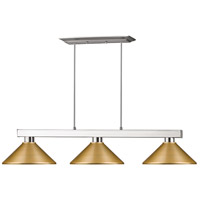 Z-Lite 152BN-MSG Cobalt 3 Light 46 inch Brushed Nickel Island/Billiard Ceiling Light