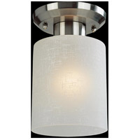Cobalt 1 Light 5 inch Brushed Nickel Semi Flush Mount Ceiling Light in Matte Opal